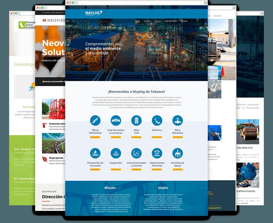 Ejemplos de diseños web realizados