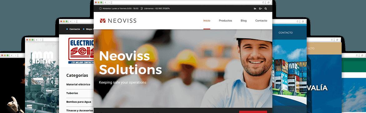 Últimos proyectos de páginas web realizados