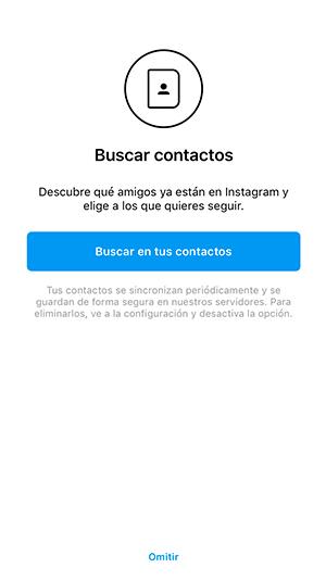 Encuentra a tus contactos que se encuentran en instagram