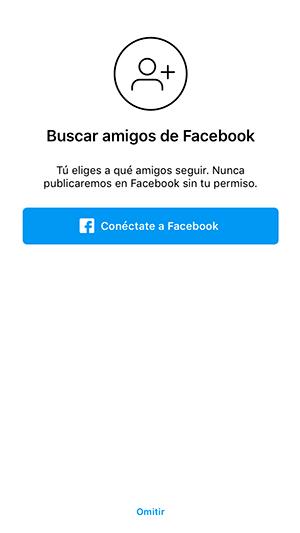 En la imagen se muestra como agregar tus contactos de facebook