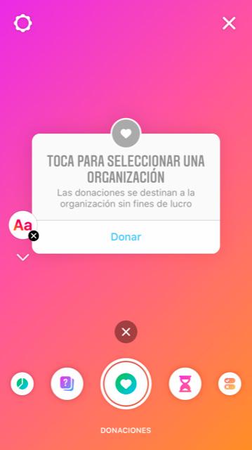 Cuadro de donaciones