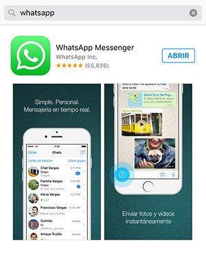 Imagen de Apps Store para bajar whatsapp