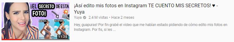 Instagram como inspiración para sus videos