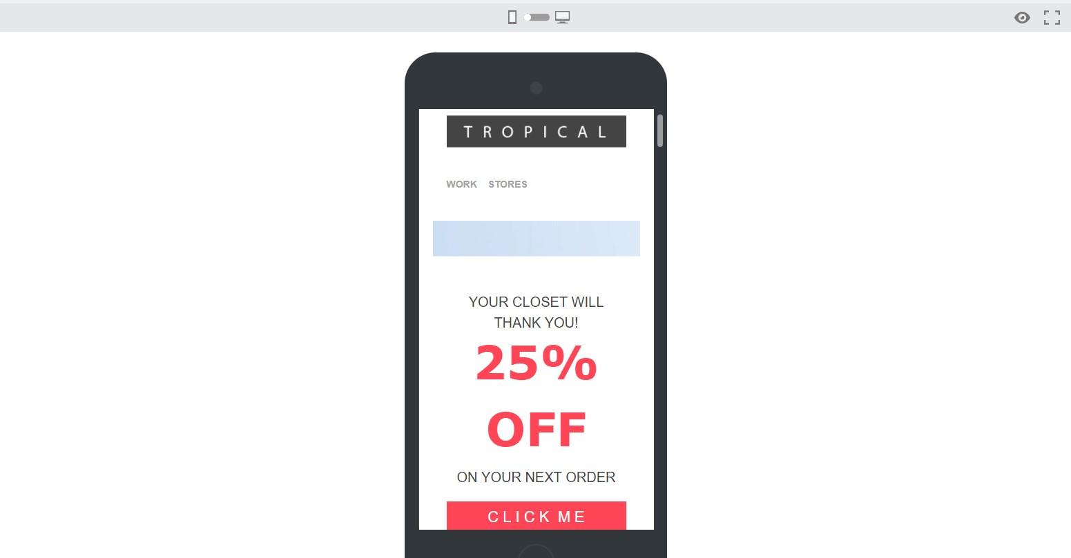 Ejemplo de email en estrategia multicanal