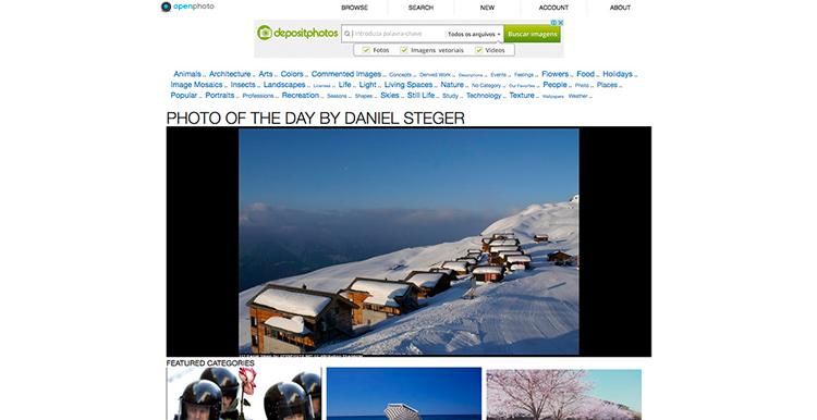 Banco de imágenes openphoto