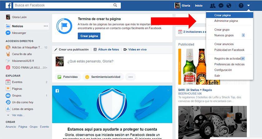 Cómo crear una página de Facebook (Fan Page) para empresas.