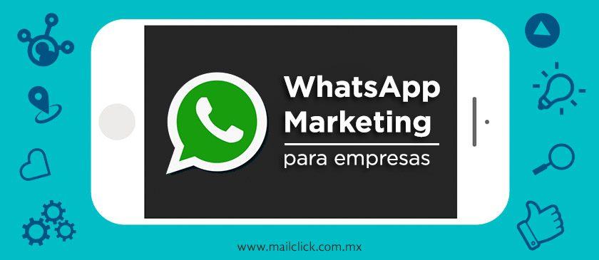 celular con herramientas alrededor con la leyenda WhatsApp Marketing para empresas