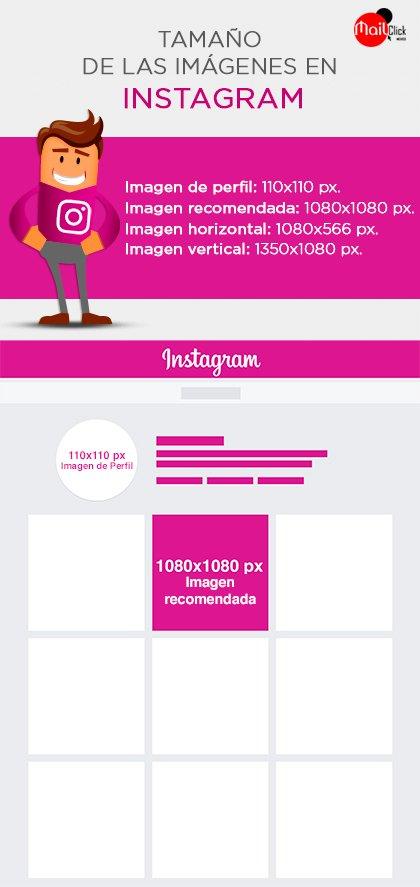 Tamano de las imagenes en Instagram