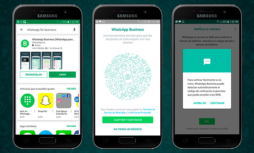 Whatsapp Business en la Playstore