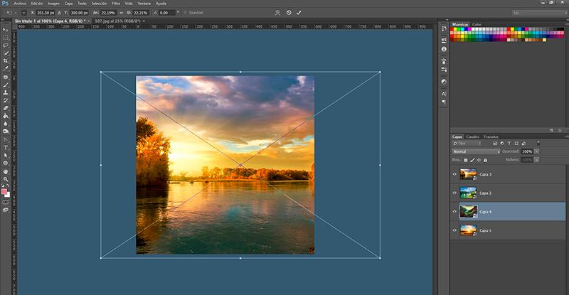 Captura de pantalla de las imágenes dentro de Photoshop