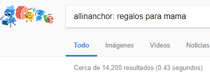 Número de resultados allinanchor para analisis keywords