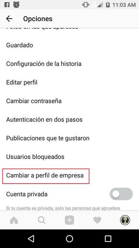 Creando el perfil de instagram para empresas