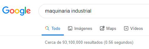 Ejemplo de busqueda en Google