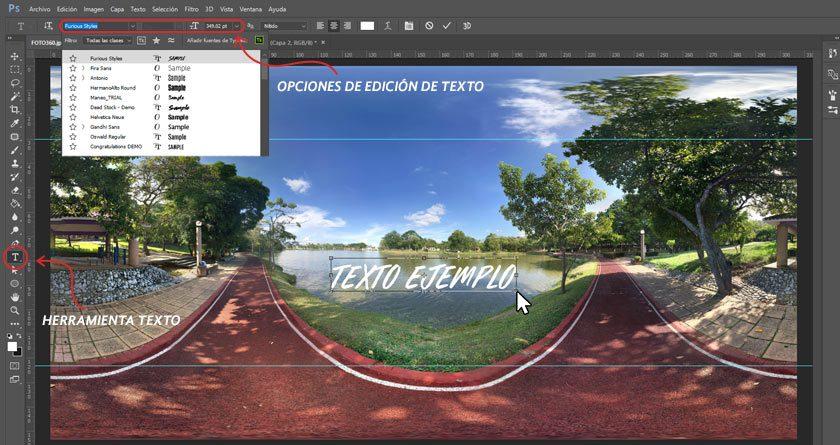 Pasos para aprender cómo agregar texto a una foto en 360