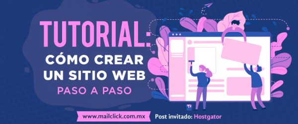 Portada de tutorial: cómo crear un sitio web paso a paso