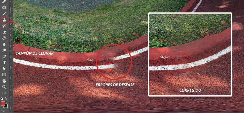 Pasos para aprender cómo editar fotos 360 en Photoshop, usando el tampón de clonar