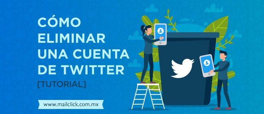 Imagen de tutorial cómo eliminar una cuenta de Twitter