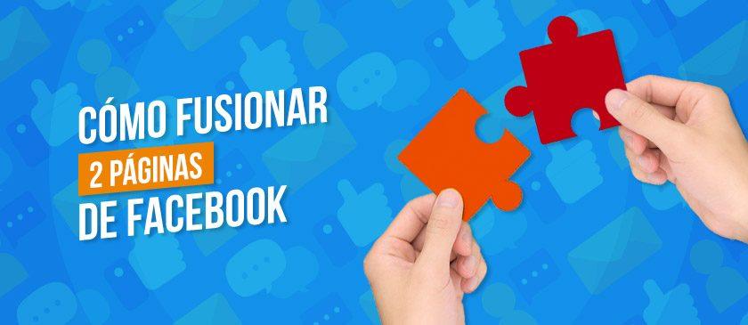Dos piezas de rompecabezas uniéndose representando cómo fusionar dos páginas en facebook