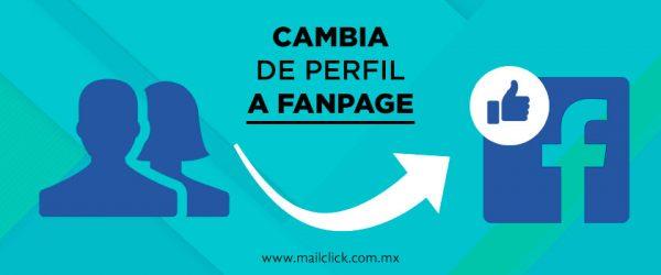 representación gráfica cómo migrar un perfil personal a fan page en facebook
