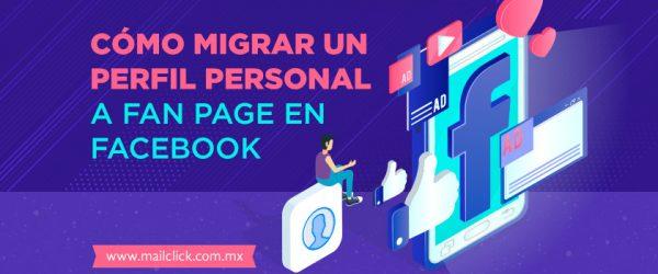 Imagen ilustrativa de un perfil de Facebook migrando a fanpage