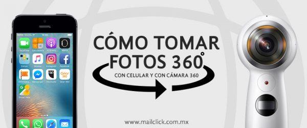 Imagen descriptiva de celular iOS o Android y cámara Samsung Gear 360 con las cuales se enseñará a tomar una fotografía 360.