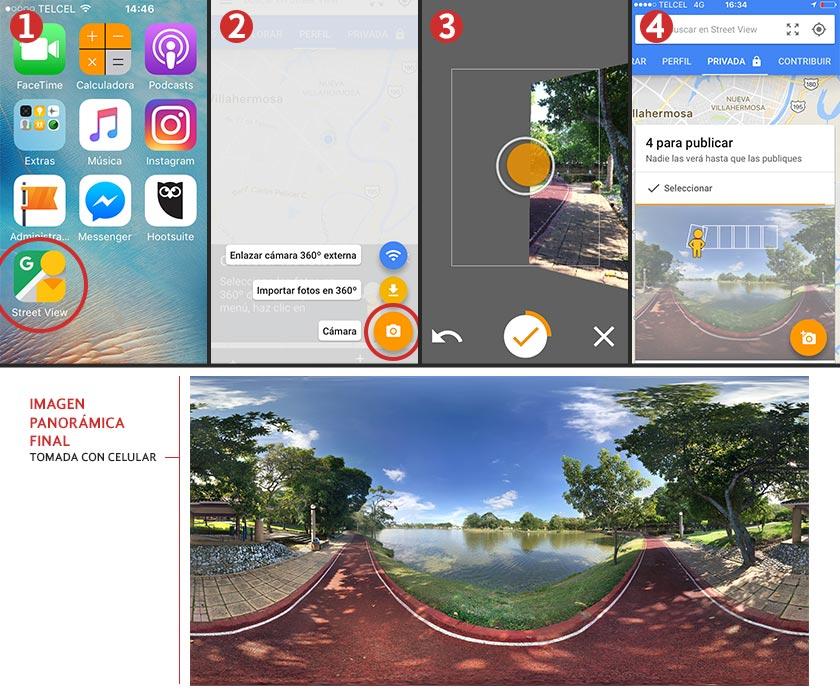 Pasos para aprender cómo tomar fotos 360 con un celular