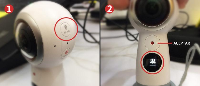 Pasos aprender cómo tomar fotos 360 con una cámara Samsung Gear 360