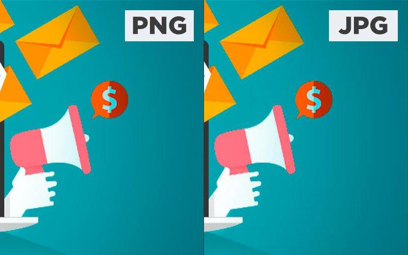 Comparación de la calidad de una imagen en formato png y jpg para subir a facebook