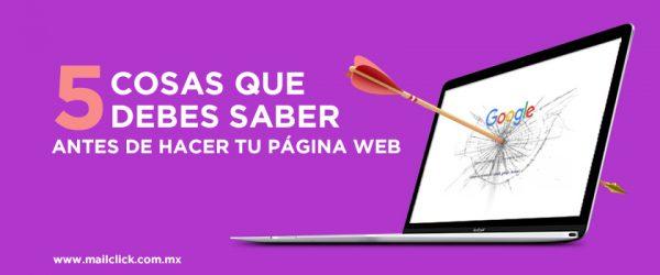 Cosas que debes saber antes de hacer tu página web