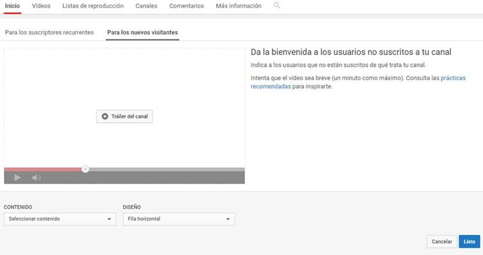 Video de bienvenida para nuevos usuarios