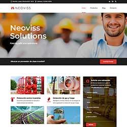Miniatura de la página web desarrollada para Neoviss Solutions