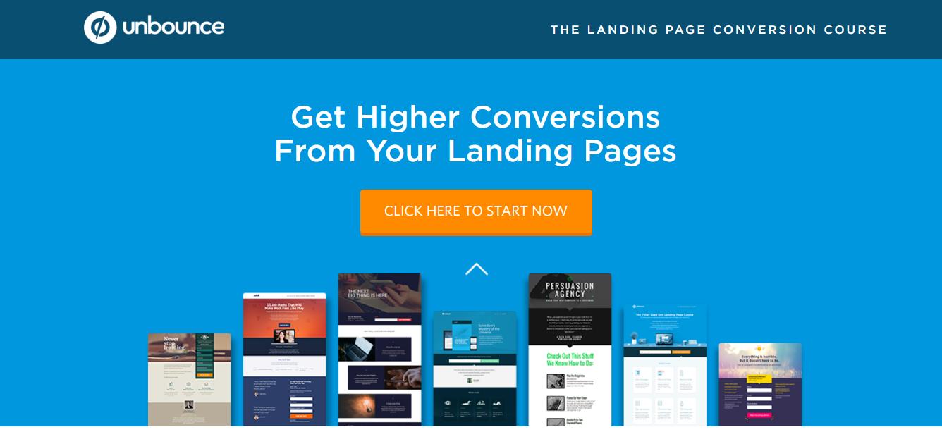 Ejemplo de un buen color para destacar un call to action en una landing page