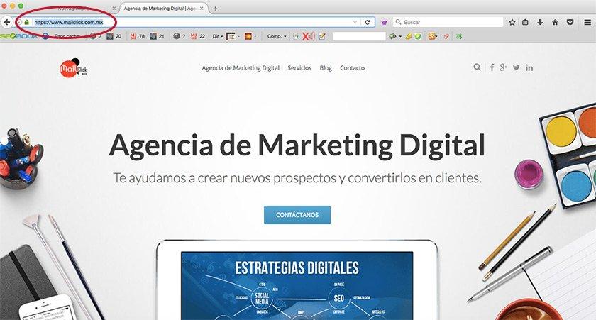 Ejemplo de url de página web que señale diferencia con sitio web