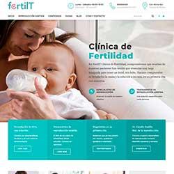 Miniatura del diseño web realizado para FertilT