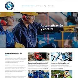 thumbnail del diseño de páginas web Scale Automatización y control