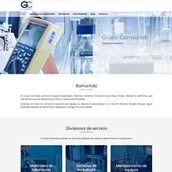 Ejemplo de página web con cotizador en línea para la empresa Grupo Comsurlab