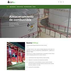 Diseño de web realizado para Asfaltos Mesoamericanos