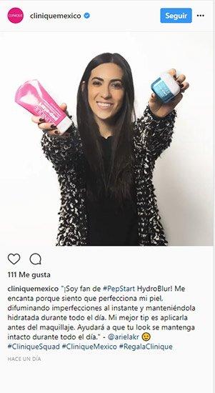 Ejemplo de empresa que usa hashtags en su cuenta de instagram