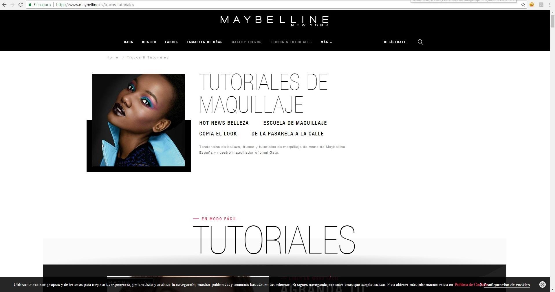 estrategia de contenidos en blog de maybelline