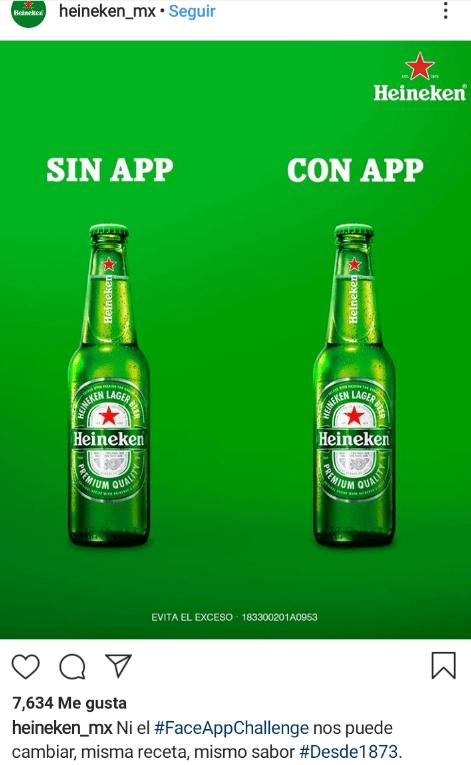Buen ejemplo de Newskacking Heineken México