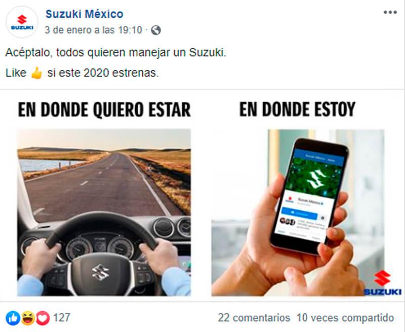 Captura de pantalla de publicación de Facebook sobre meme
