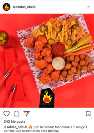 Ejemplo de un anuncio empleando el color rojo