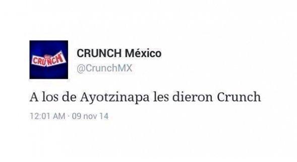 El Community Manager de Crunch no sabe qué es newsjacking y lanza un tweet con resultados negativos