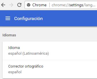 Estableciendo idioma en Chrome