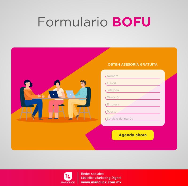 Ejemplo de un formulario BOFU