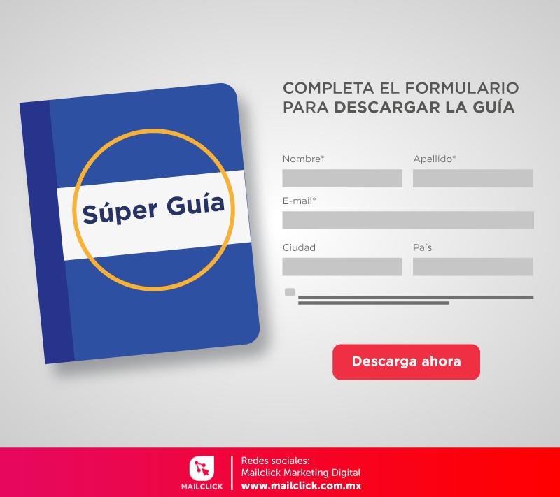 Ejemplo de un formulario de contacto para descargar una guía