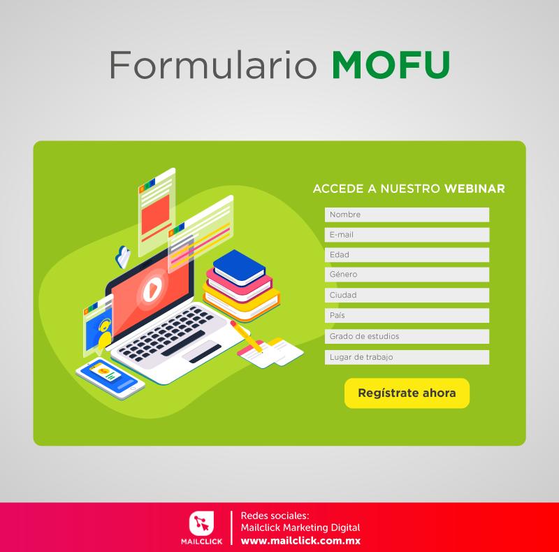 Ejemplo de un formulario MOFU