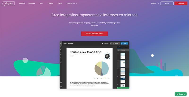 Infogram, una de las herramientas gratuitas para diseñar infografías