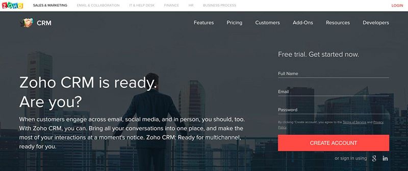 Imagen de una landing page tipo homepage