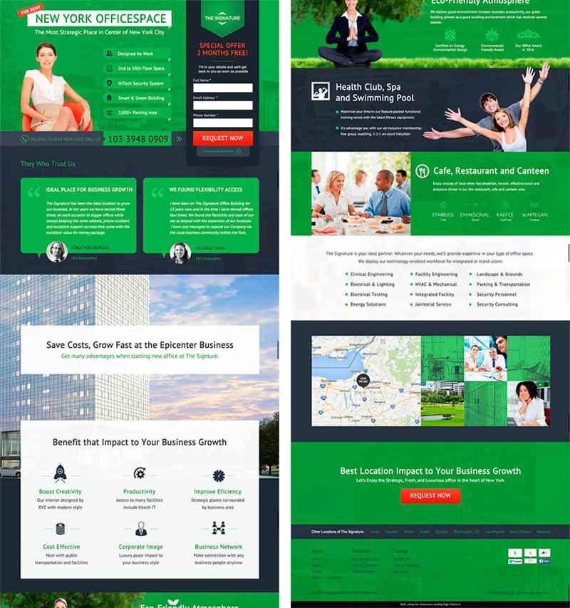 Imagen de ejemplo de una landing page de tipo infomercial